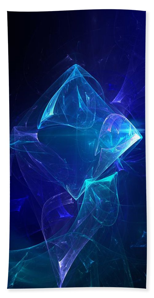 Abstract Digital Photo Beach Towel featuring the digital art I Had Too Much To Dream Last Night by David Lane