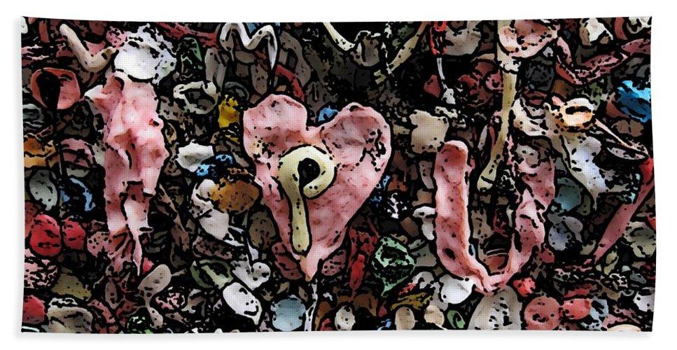 Heart Beach Towel featuring the digital art I Heart You by Tim Allen