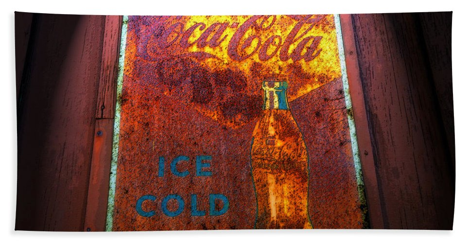 Art Beach Towel featuring the painting Ice Cold Coca Cola by David Lee Thompson