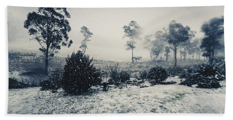 Australian Beach Towel featuring the photograph Ice Cold Winter Background by Jorgo Photography - Wall Art Gallery