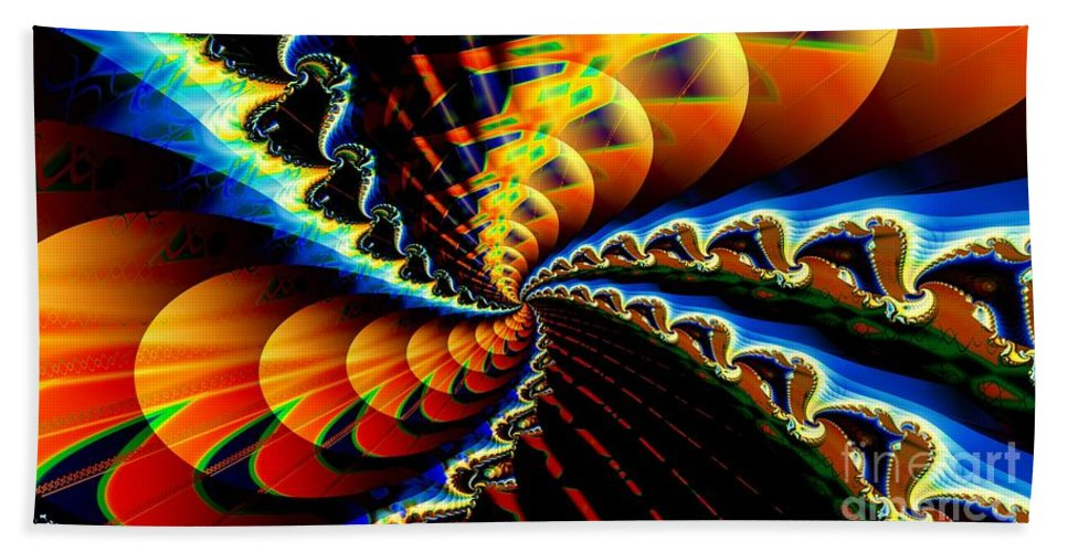 Fractal Beach Towel featuring the digital art Ice Comet by Ron Bissett