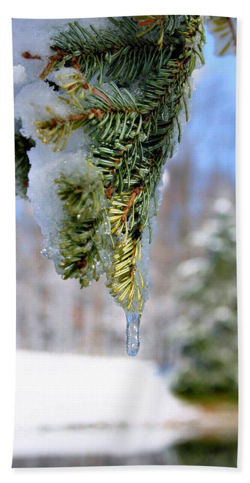 Ice Beach Towel featuring the photograph Ice Melt by Kristin Elmquist