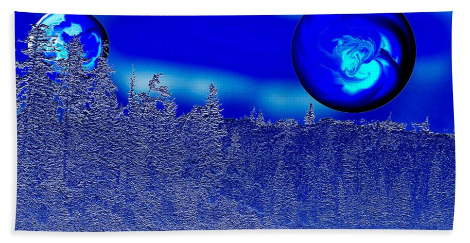 Blue Planet Beach Towel featuring the photograph Ice Skies by Andrea Lawrence