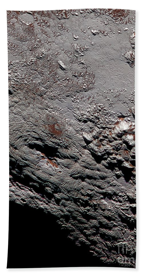 Science Beach Towel featuring the photograph Ice Volcano On Pluto by Science Source