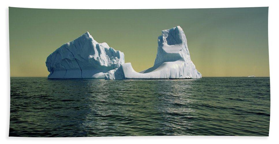 00342146 Beach Towel featuring the photograph Iceberg in the Labrador Sea by Yva Momatiuk John Eastcott
