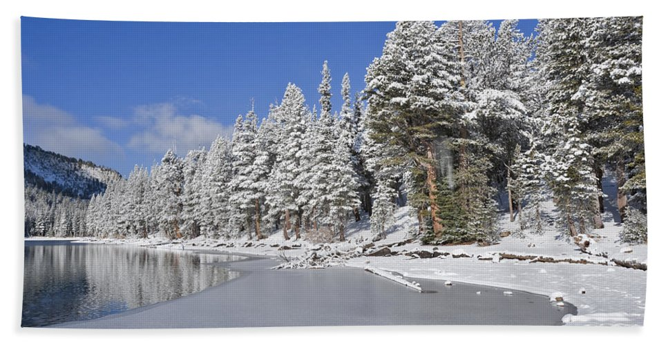 Water Beach Towel featuring the photograph Icy by Kelley King