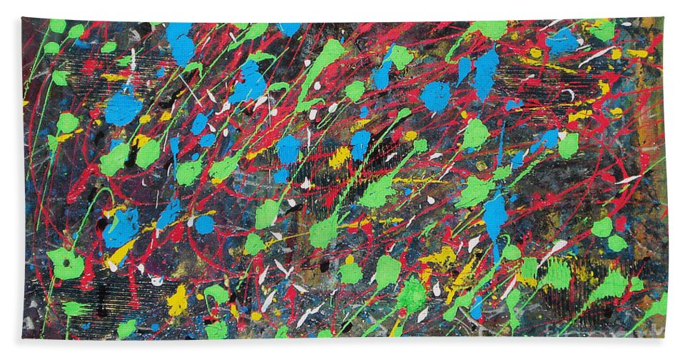 Acrylic Panting Beach Towel featuring the painting Imagination by Yael VanGruber