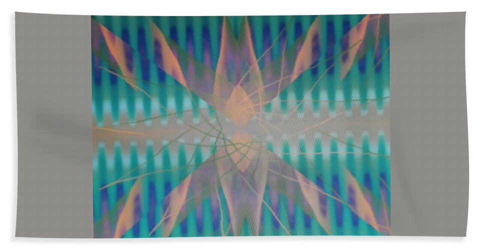 Digital Art Beach Towel featuring the digital art Img0095 by Ralph Root