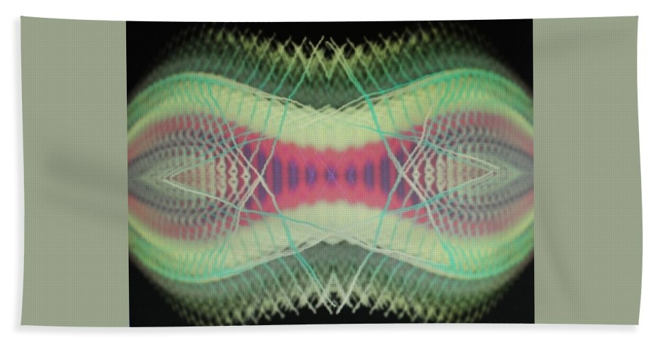 Digital Art Beach Towel featuring the digital art Img0189 by Ralph Root