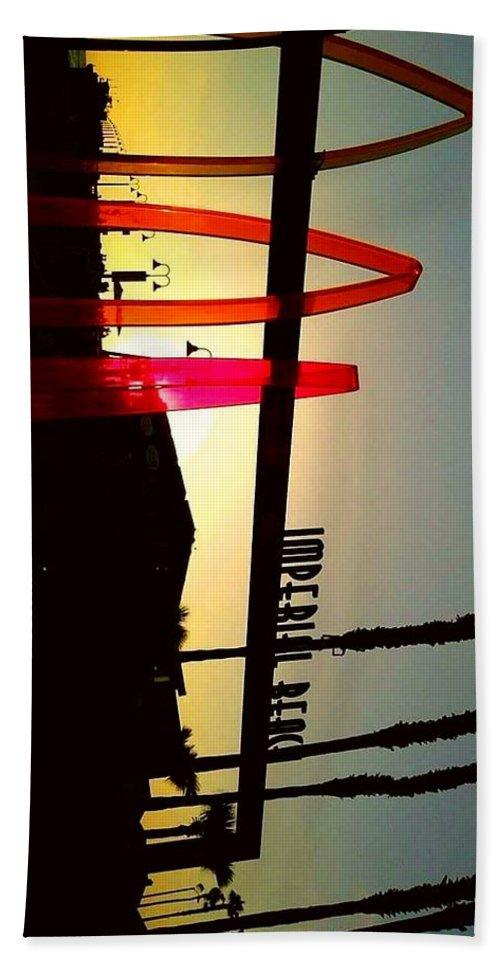 California Beach Towel featuring the photograph Imperial Beach by Islah Blu