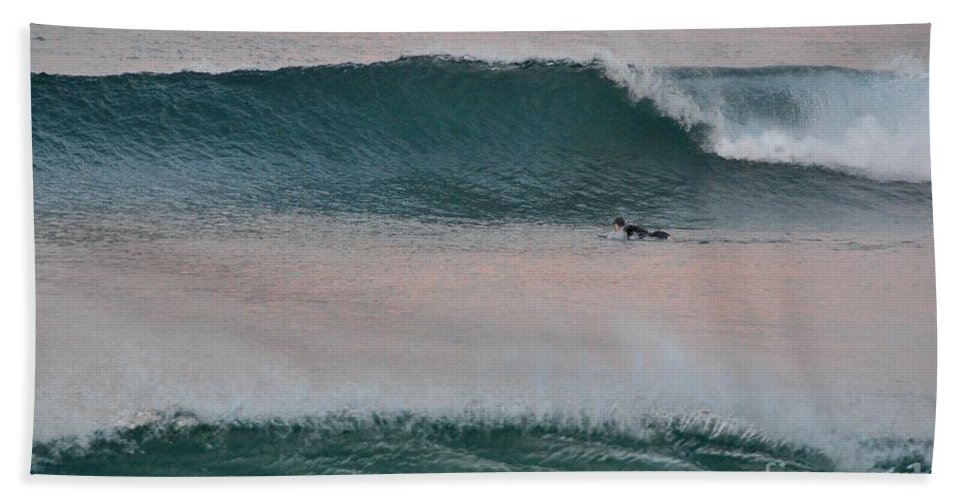 Gold Coast Beach Towel featuring the photograph Impressionist Surfing by Csilla Florida