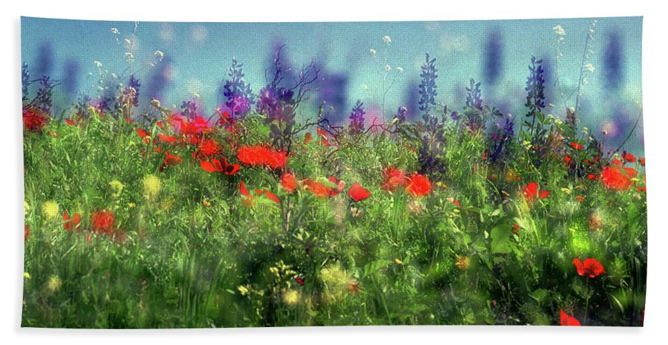 Impressionistic Beach Towel featuring the photograph Impressionistic Springtime by Dubi Roman