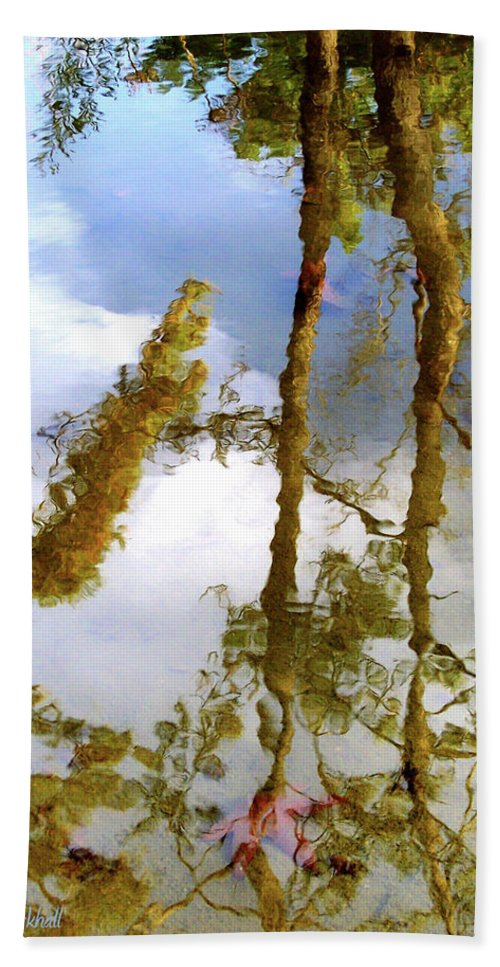 Water Beach Towel featuring the photograph Impressions by Donna Blackhall