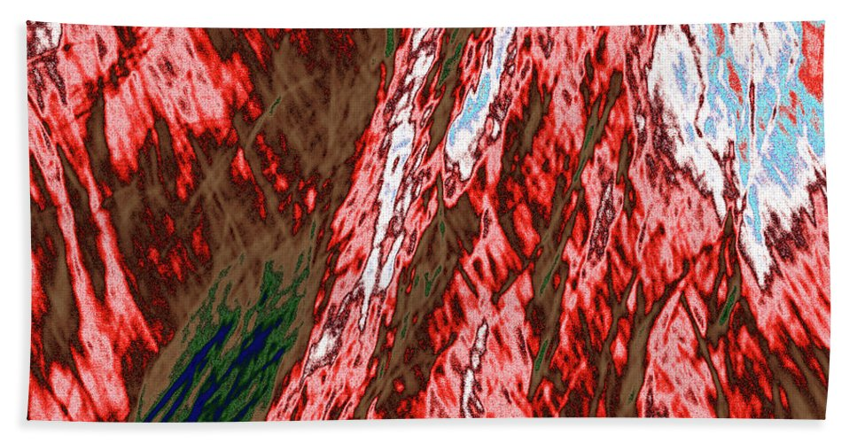 Forest Beach Towel featuring the photograph Impressions Of A Burning Forest 12 by Gary Bartoloni