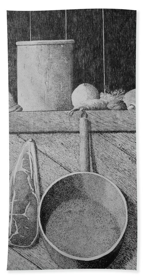 Still Life Beach Towel featuring the painting Improvisation by A Robert Malcom