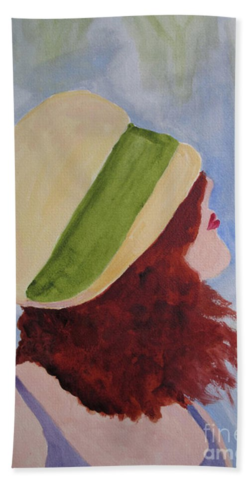 Woman Beach Towel featuring the painting In A Breeze by Sandy McIntire