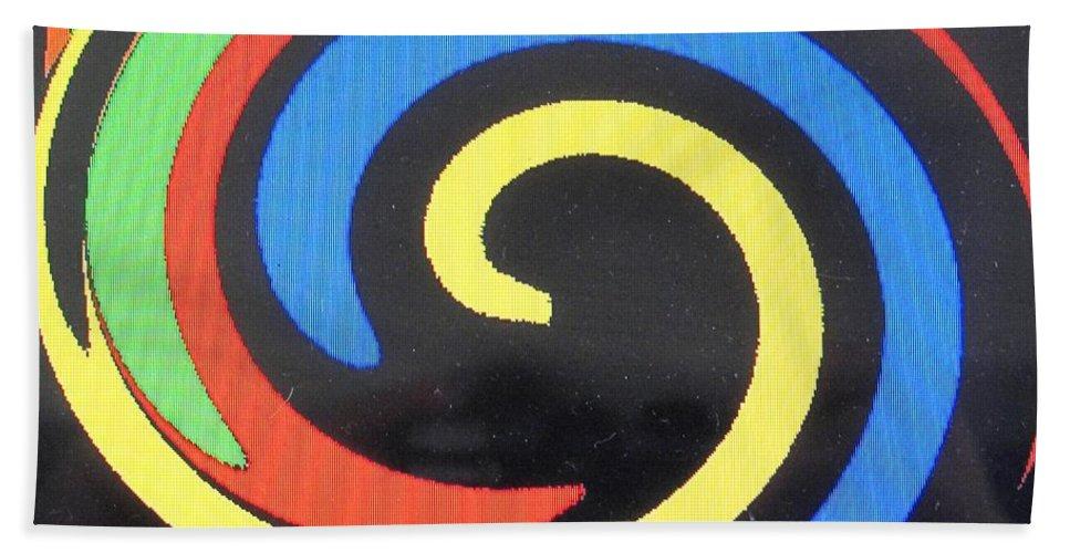 Red Beach Sheet featuring the digital art In Balance by Ian MacDonald