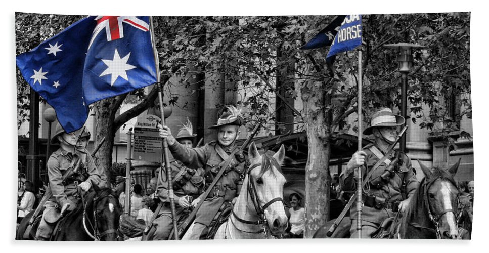 In Remembrance-lest Shall We Forget Beach Towel featuring the photograph In Remembrance by Douglas Barnard