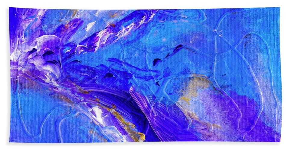 In The Blue Deep Beach Towel featuring the painting In The Blue Deep by Dominic Piperata