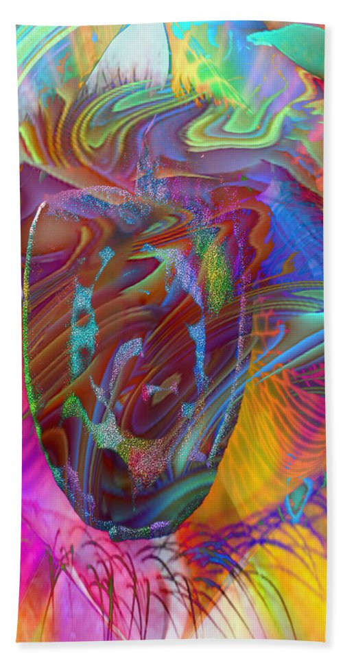 Eye Beach Towel featuring the mixed media In The Light by Kevin Caudill