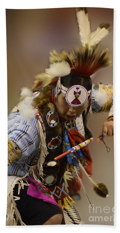 Pow Wow Beach Towel featuring the photograph Pow Wow In The Moment by Bob Christopher