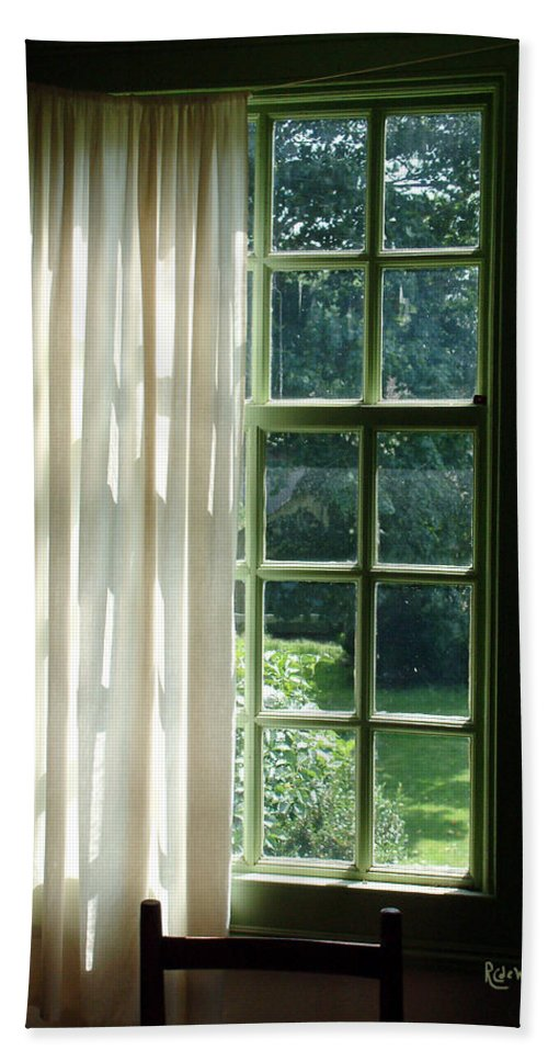 Window Beach Towel featuring the photograph In The Quiet Of The Afternoon by RC deWinter