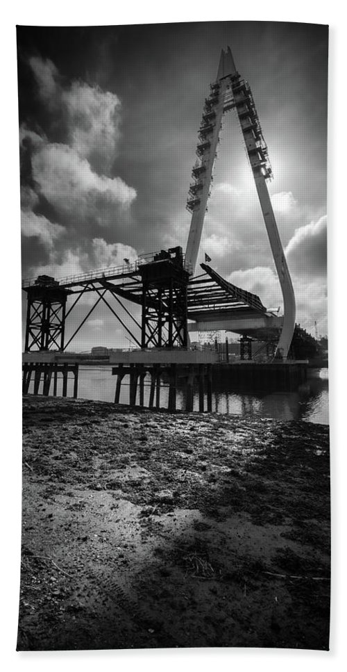 New Wear Bridge Beach Towel featuring the photograph Northern Spire Bridge 4 by David Mckenna