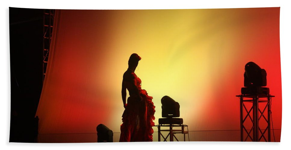 Dancer Beach Towel featuring the photograph In The Shadows... by Jo Hoden