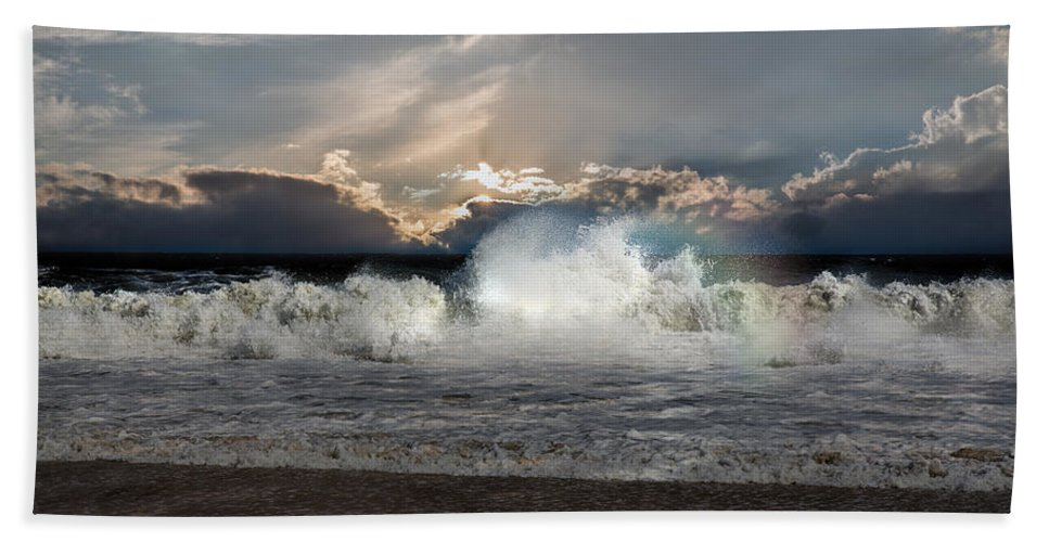 Ocean Beach Towel featuring the photograph Incoming Tide by John Haldane