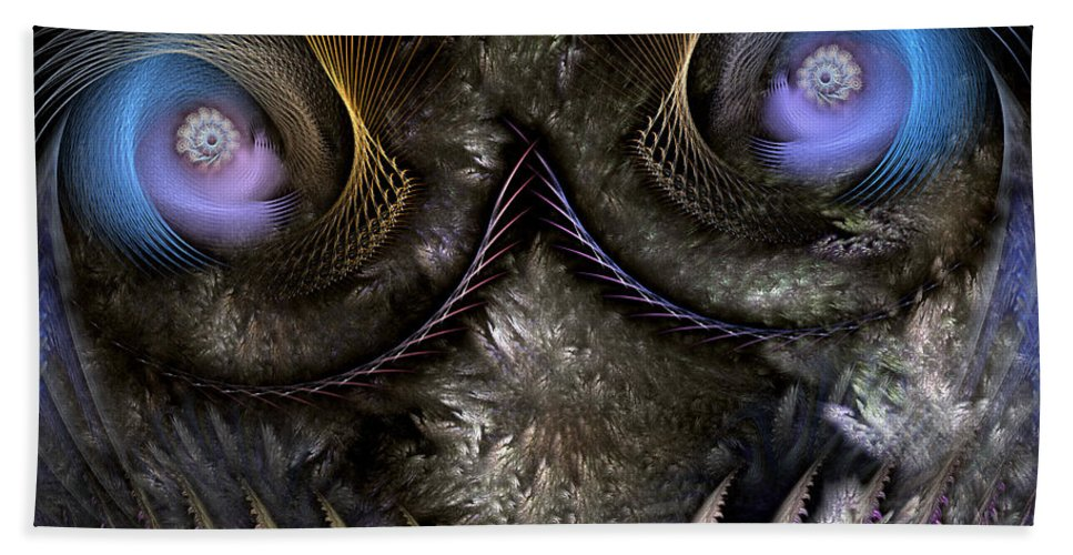 Abstract Beach Towel featuring the digital art Incubus by Casey Kotas