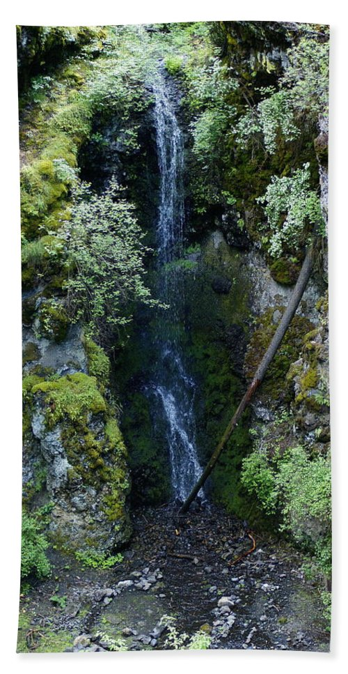 Nature Beach Towel featuring the photograph Indian Canyon Waterfall by Ben Upham III