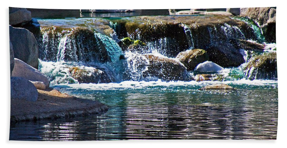 Water Beach Towel featuring the photograph Indian Wells Waterfall by David Campbell