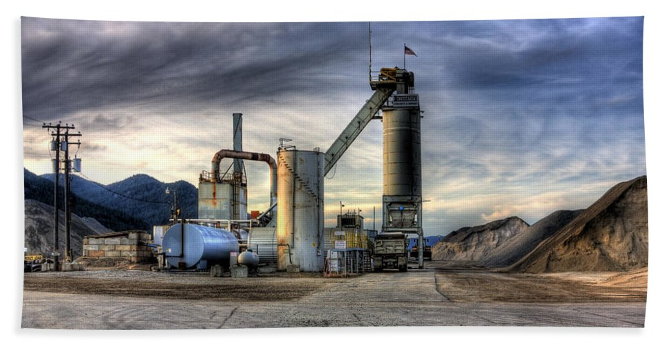 Industrial Landscape Beach Towel featuring the photograph Industrial Landscape Study Number 1 by Lee Santa
