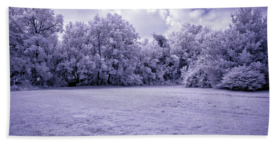 Infrared Beach Towel featuring the photograph Infrared In Glasgow Ky by Amber Flowers