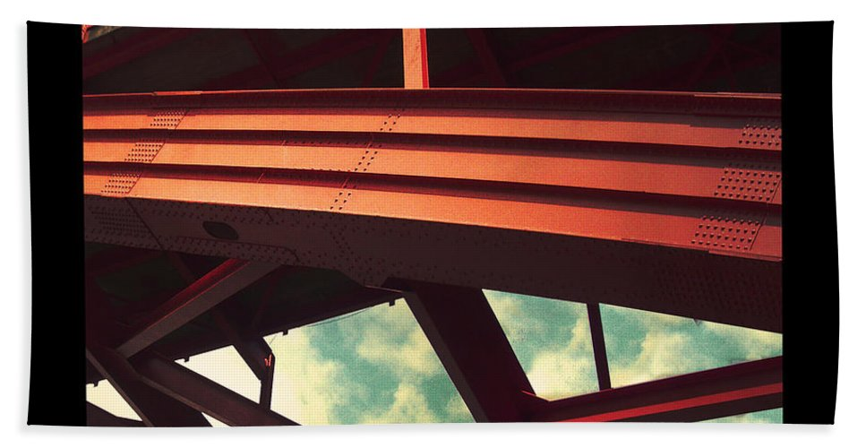 Bridge Beach Towel featuring the photograph Infrastructure by Tim Nyberg