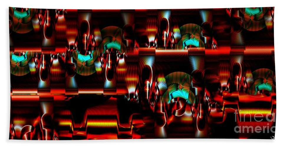 Abstract Beach Towel featuring the photograph Inner Workings by Ron Bissett