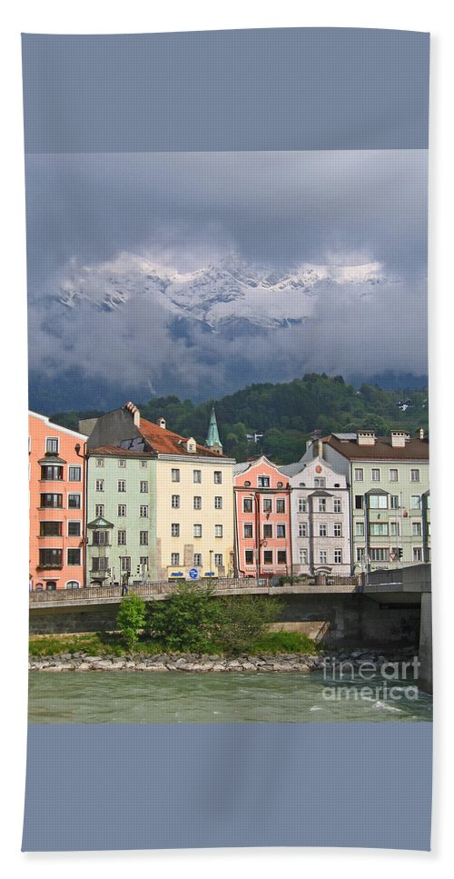 Innsbruck Beach Towel featuring the photograph Innsbruck by Ann Horn