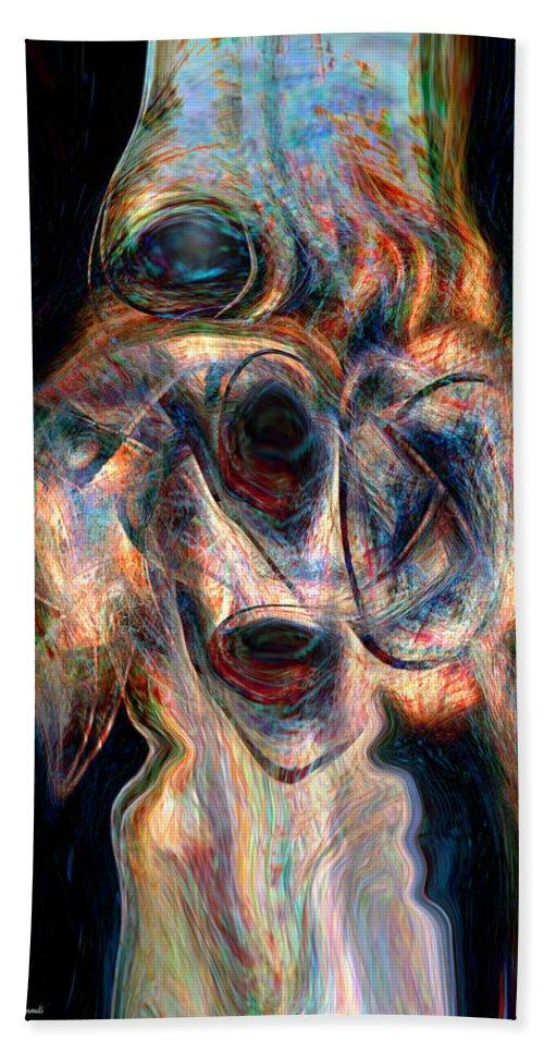 Insane Art Beach Towel featuring the digital art Insane by Linda Sannuti