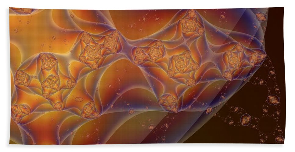 Fractal Art Beach Towel featuring the digital art Inside And Out by Ron Bissett
