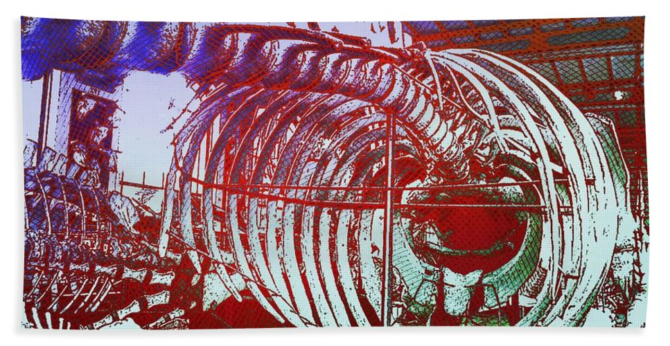 Moby Dick Beach Towel featuring the photograph Inside Moby Dick by Helge