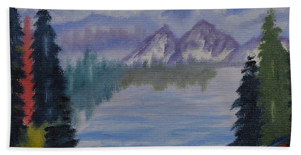 Inside Passage 3 Beach Towel featuring the painting Inside Passage 3 by Warren Thompson