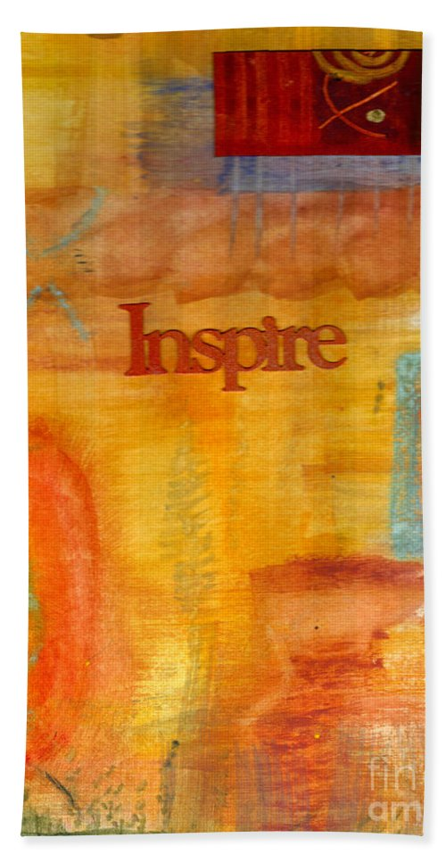 Mixed Media Beach Towel featuring the mixed media Inspirational by Angela L Walker