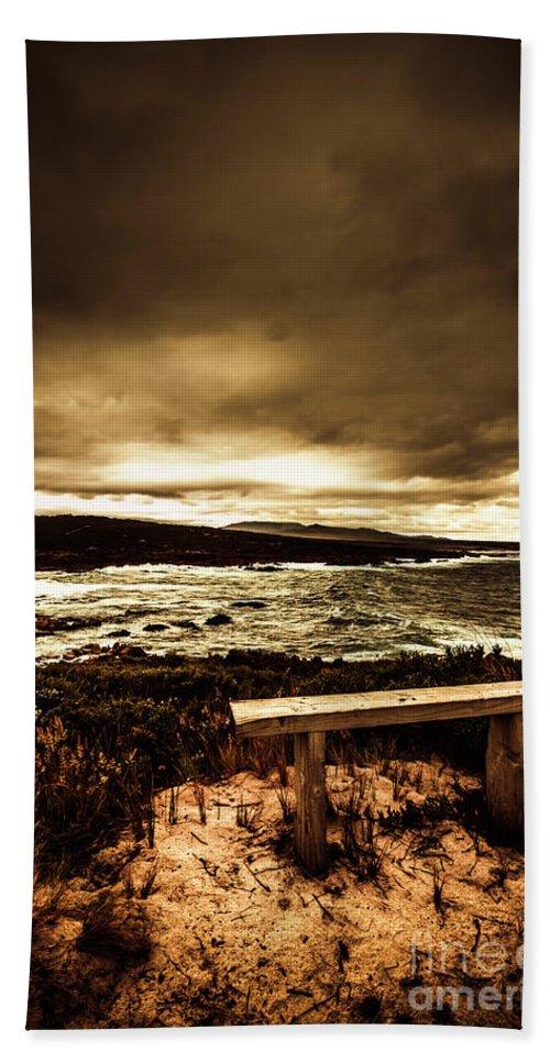 Sky Beach Towel featuring the photograph Intense Coastline Drama by Jorgo Photography - Wall Art Gallery