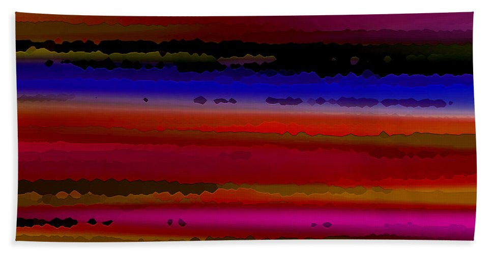 Abstract Beach Towel featuring the digital art Intensely Hued II by Ruth Palmer
