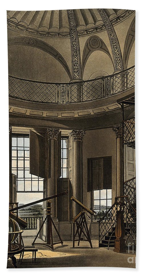 Historic Beach Towel featuring the photograph Interior Of The Radcliffe Observatory by Wellcome Images
