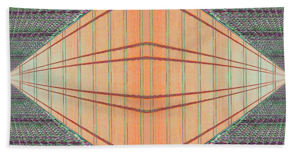 Architecture Beach Towel featuring the photograph Intersect by Tim Allen