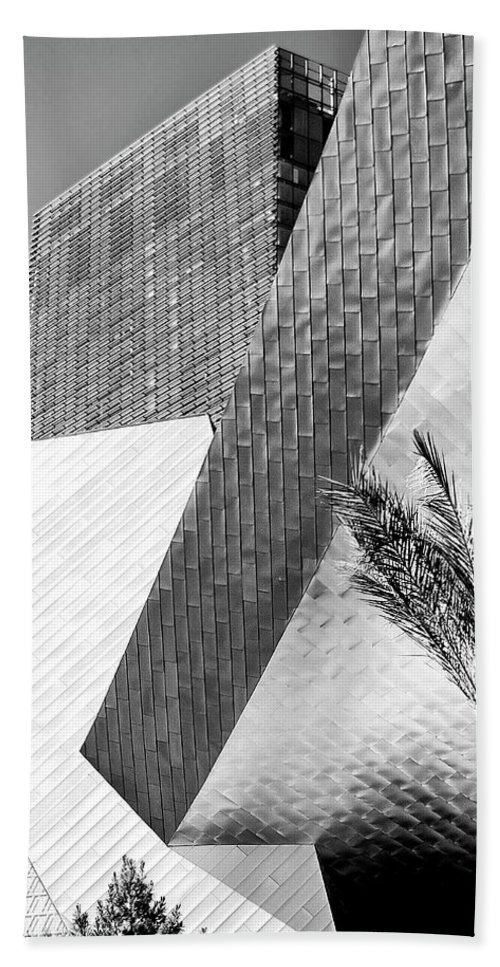 Vegas Beach Towel featuring the photograph Intersection 1 Bw Las Vegas by William Dey