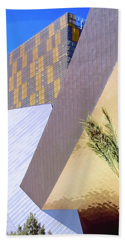Intersection Beach Towel featuring the photograph Intersection Number One Las Vegas by William Dey