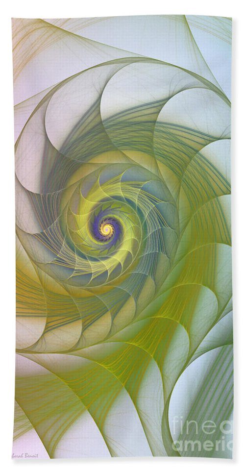 Fractal Beach Towel featuring the photograph Into The Inner Kingdom by Deborah Benoit