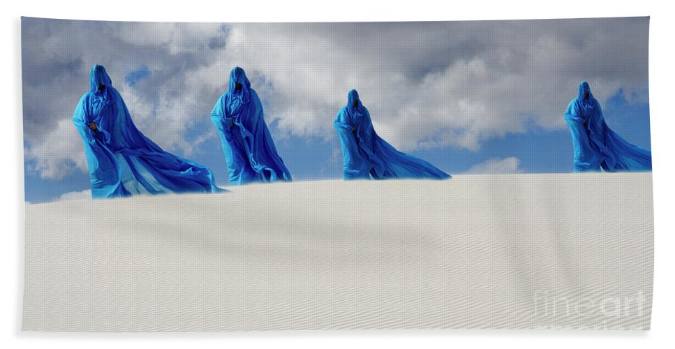 Sand Beach Towel featuring the photograph Into The Mystic 11 by Bob Christopher